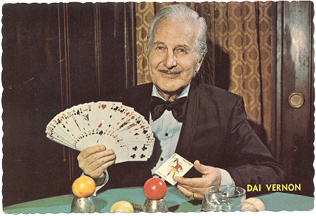 Dai vernon doing card magic trick
