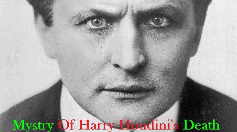 Harry Houdini's Death: A mysterious Death of The great Harry ...