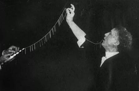 harry houdini performing indian needle trick