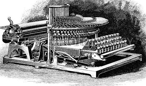 type writer designed by John Nevil Maskelyne