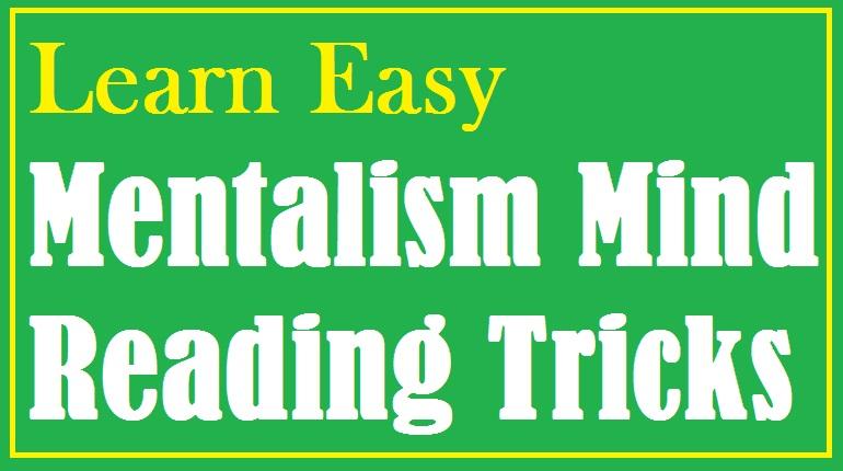 learn easy mentalism tricks