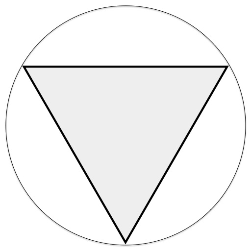 triangle inside a circle trick