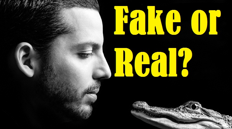 David blaine's picture with a crocodile and a text
