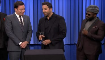David blaine doing magic in jimmy fallon show