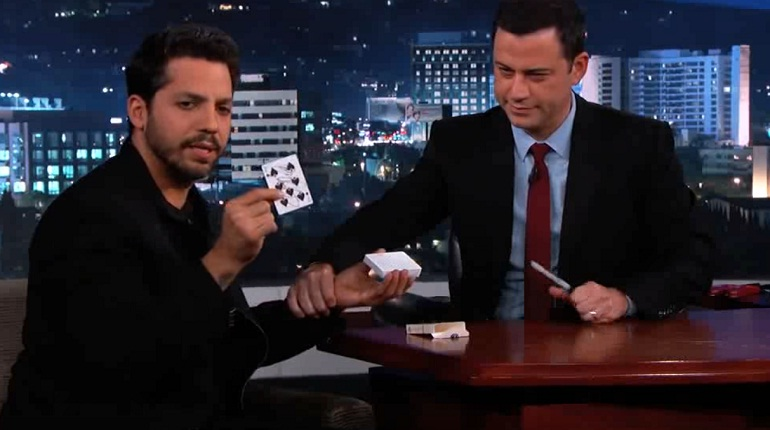 David Blaine trick on Jimmy Kimmel